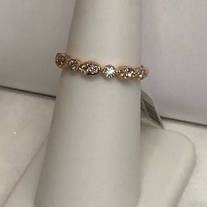 Jewelry - Rose Gold and Diamond Band -stackable